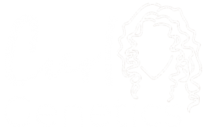 curl genetics logo in white png
